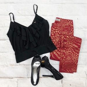 Red Print Pants